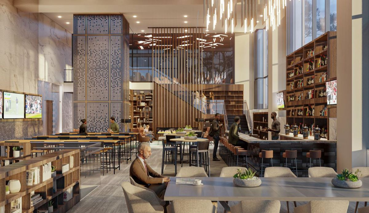 Rendering of the Office Bar at 1105 West Peachtree