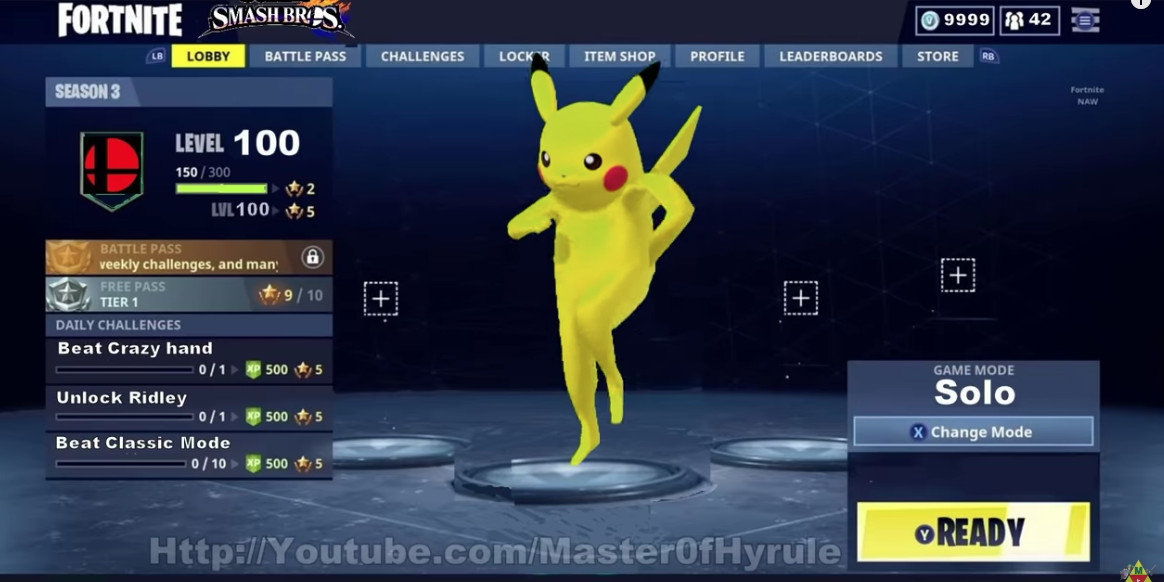 watch every smash bros character do a fortnite dance limbs be damned the verge - fortnite new item template
