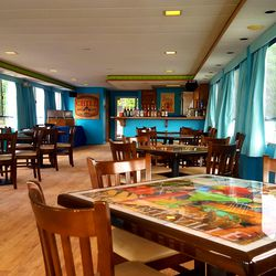 Inside the Margaritaville party yacht, there's a full bar, perfect for people who need more booze to quell their sea sickness.