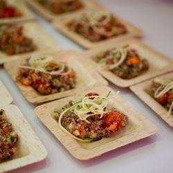 Crateful's tri-color quinoa salad was the perfect light bite.