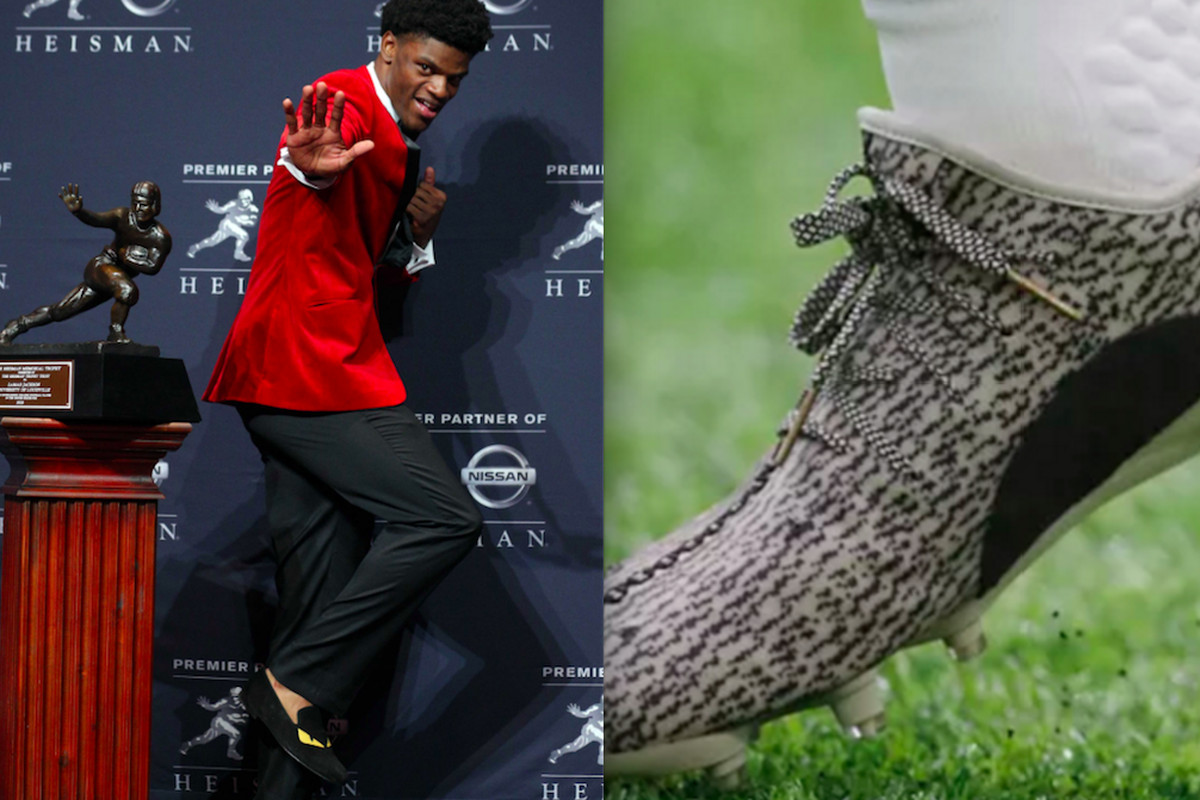 8851557648b Adidas wanted Lamar Jackson to wear Yeezy cleats. He d only do it if his whole  team could.