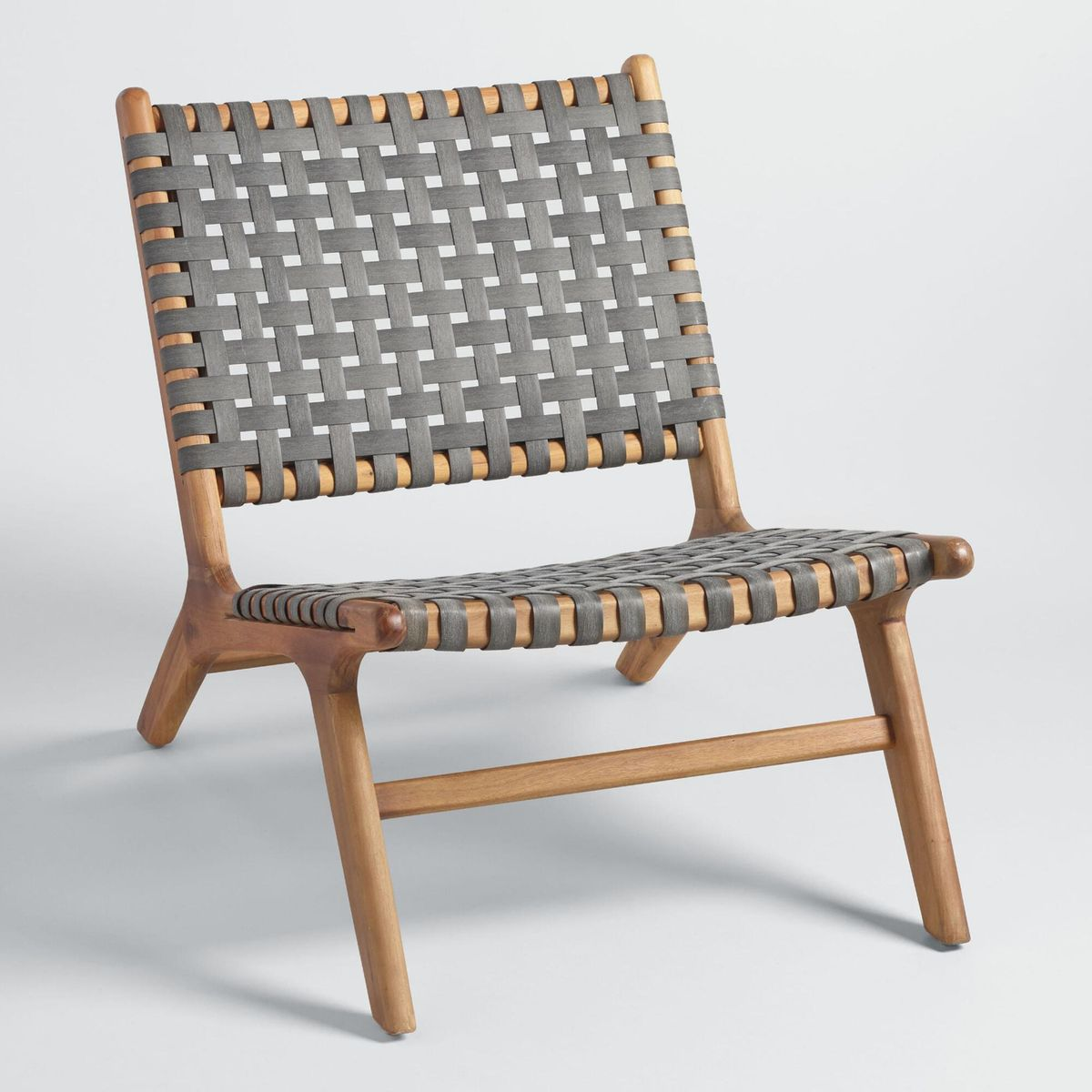 Woven wicker chairs.
