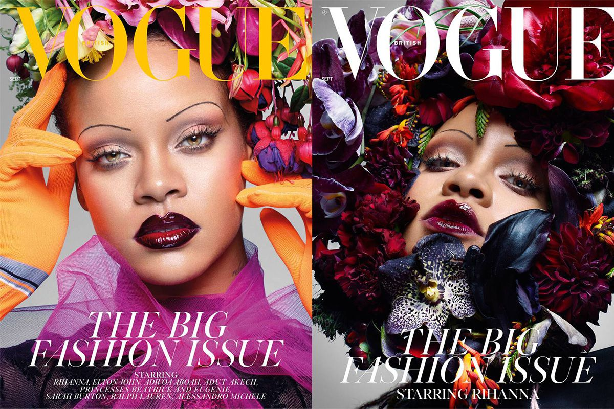 Rihanna Has Skinny Eyebrows On The New Vogue Uk Cover Racked