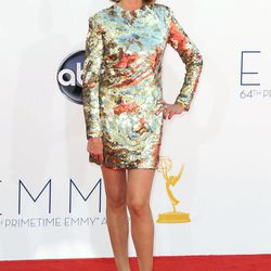 Christine Baranski arrives at the 64th Primetime Emmy Awards at the Nokia Theatre on Sunday, Sept. 23, 2012, in Los Angeles.
