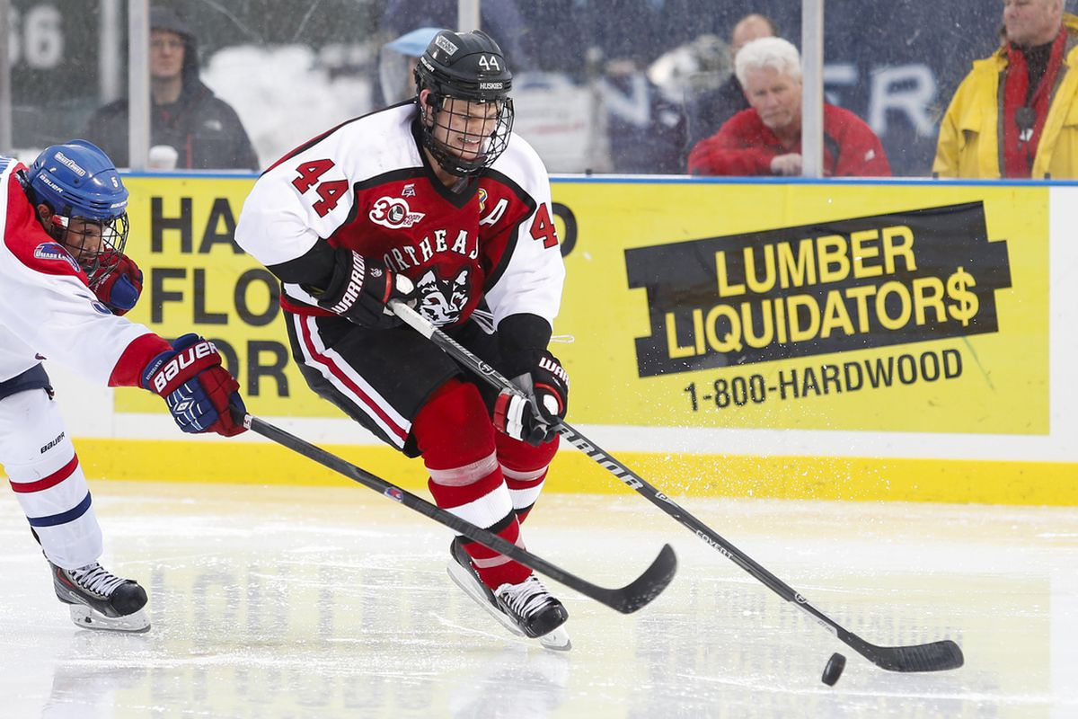 Dax Lauwers and his Northeastern teammates are off to an 0-4 start.