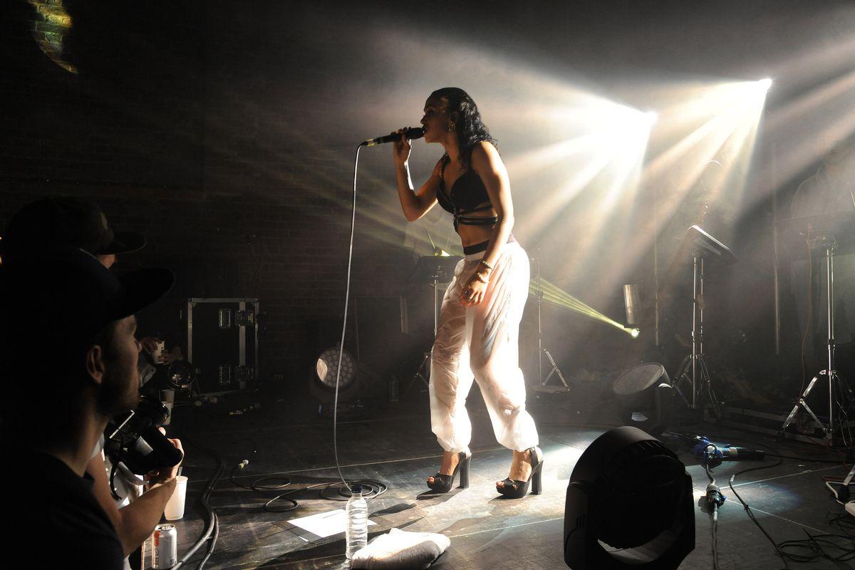 FKA Twigs performs in London