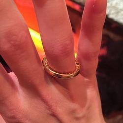 Gold moonset ring, $540
