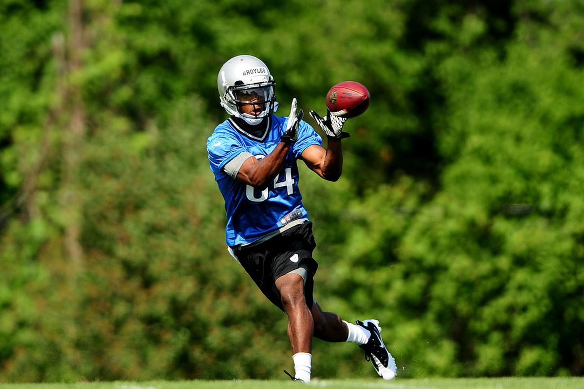 Detroit Lions wide receiver Ryan Broyles (84) at the Detroit Lions training facility. Mandatory Credit: Andrew Weber-US PRESSWIRE