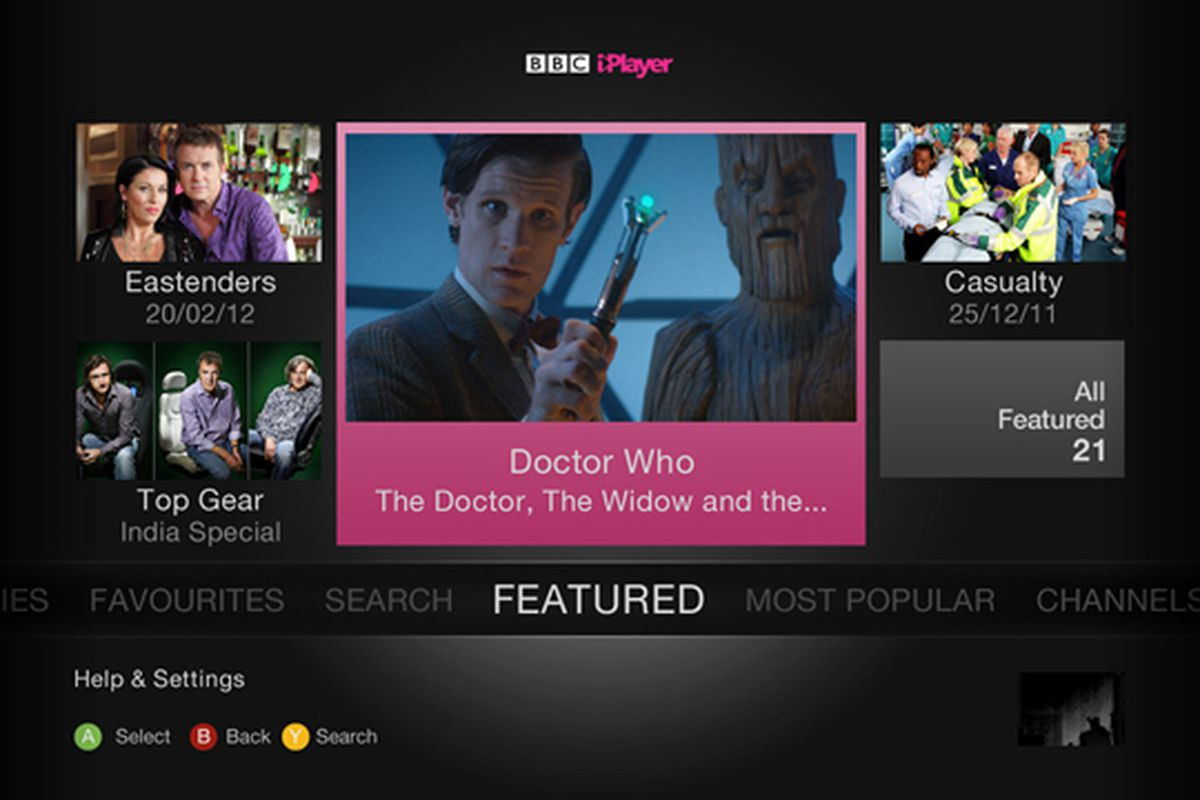 BBC iPlayer xbox