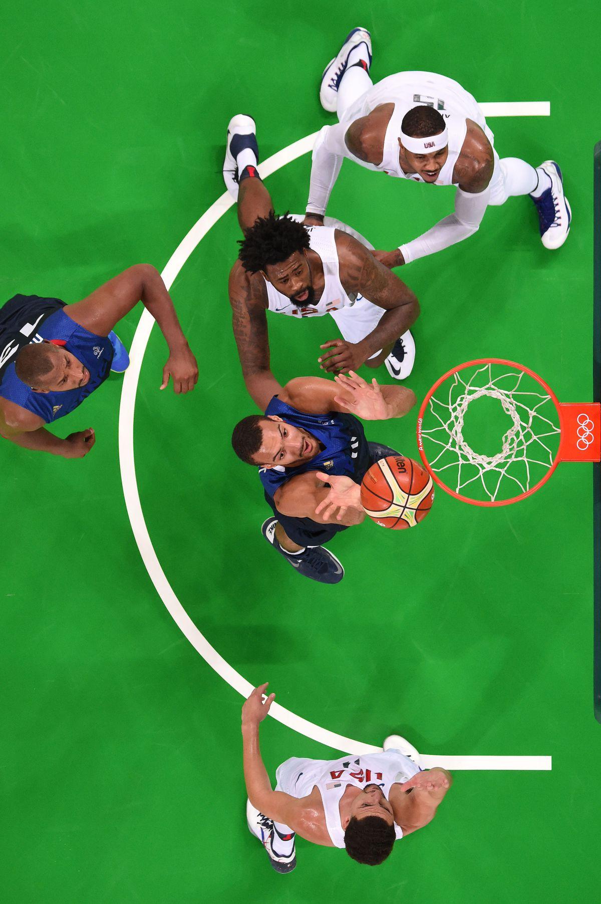 Olympics: Basketball-Men's Team-Preliminary Round FRA vs USA