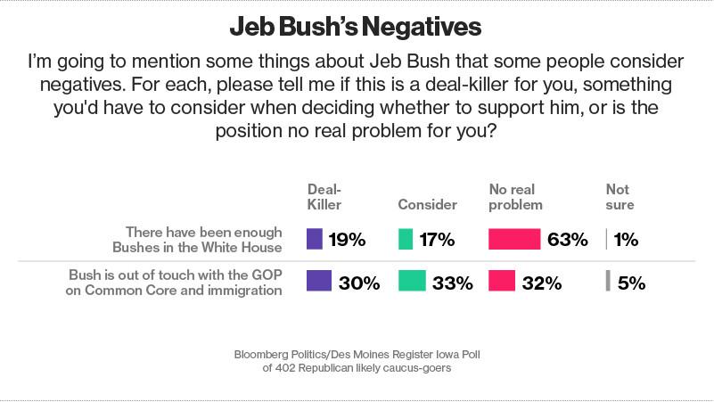 Jeb Bush bloomberg poll