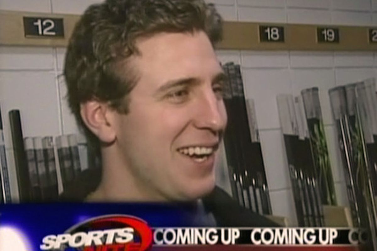 Mike Richards with the media, in happier times.