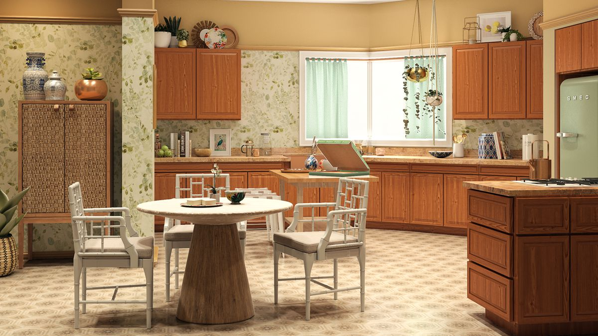 Rendering of kitchen from Golden Girls