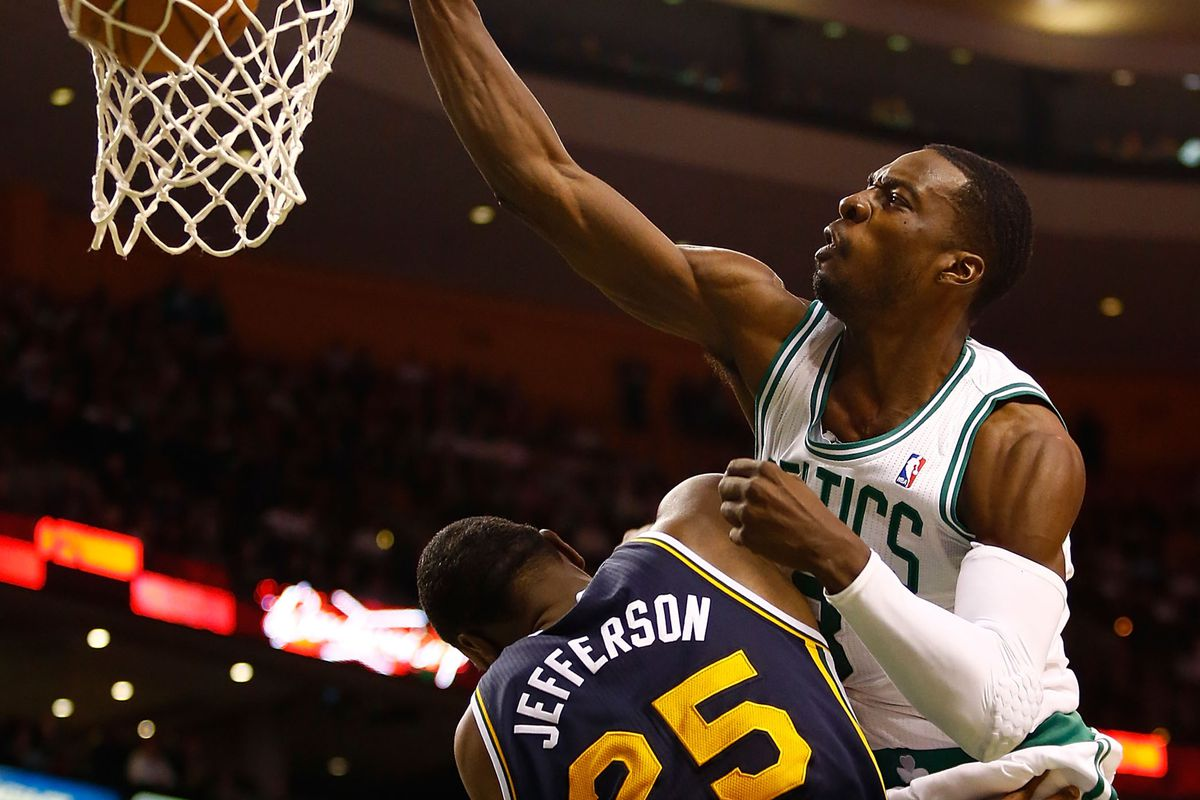 Jeff Green goes up, and Al Jefferson goes down.