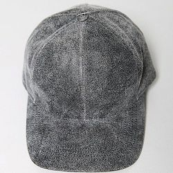 "<strong>OAK</strong>  A.OK Leather Baseball Cap in Grey, <a href=""http://www.oaknyc.com/wok-leather-baseball-cap-grey.html"">$50</a>"