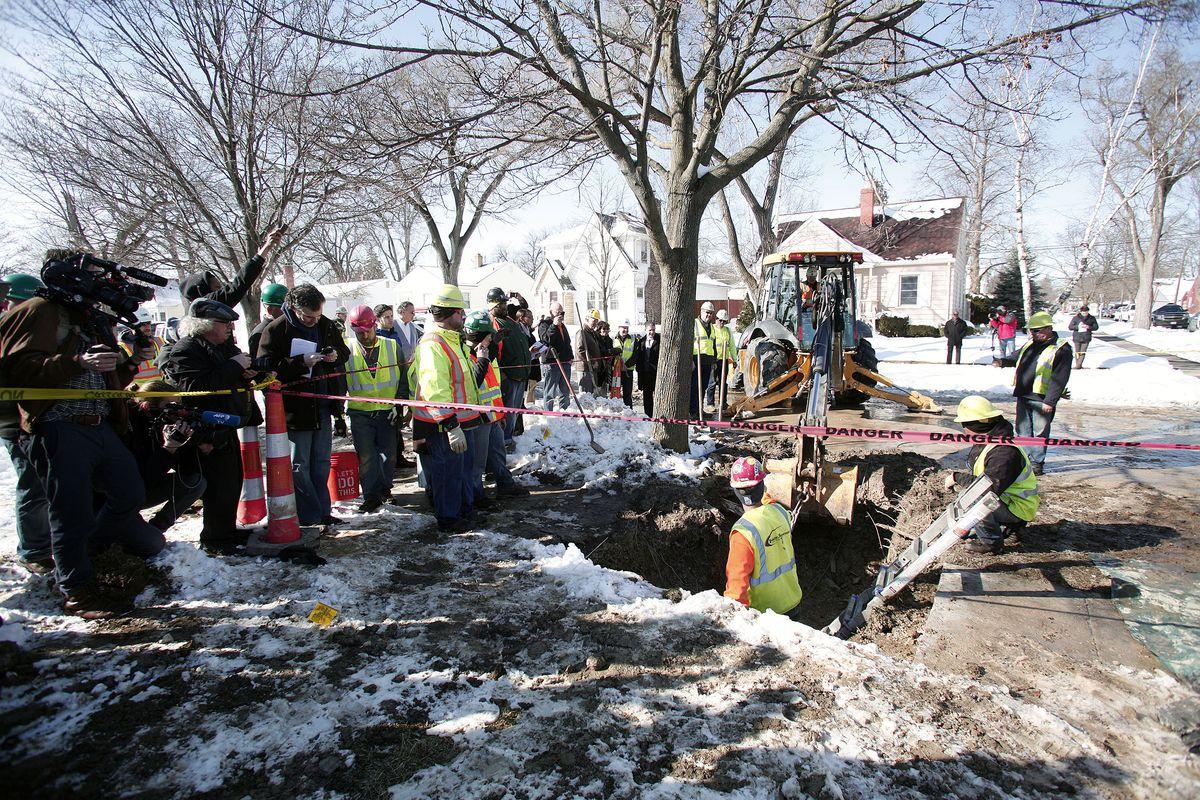 Construction zone in Flint