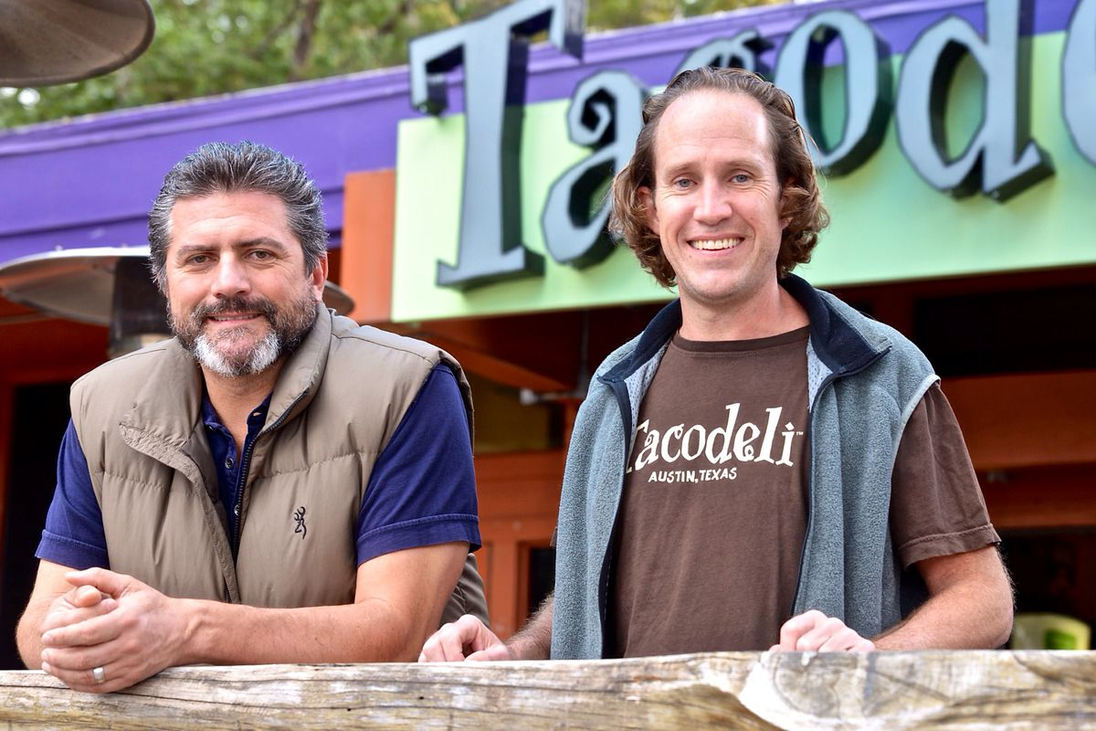 Tacodeli co-owners Roberto Espinosa and Eric Wilkerson