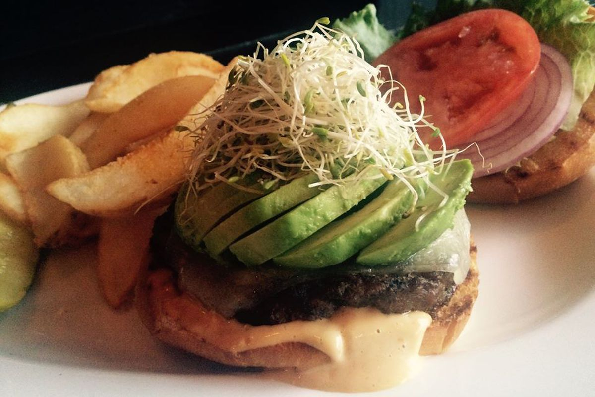 Veggie burger at The Playwright