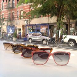 """<a href=""""http://instagram.com/p/ajRdj_ieuD/"""">@stevenalan</a>: The sun finally appeared in NYC. Our #Nolita Women's shop is ready for the weekend with brightly patterned sunglasses from Sheriff & Cherry."""