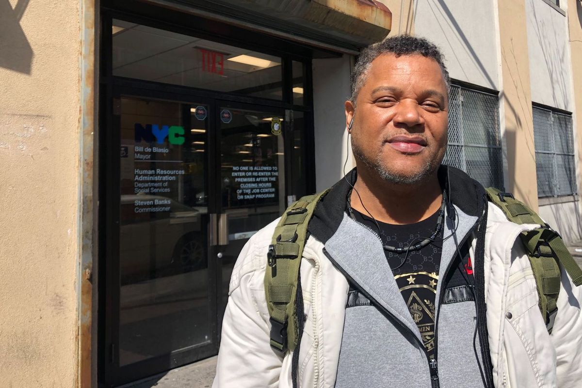Michael Peters, 52, went to a Human Resources Administration office in The Bronx on Monday.