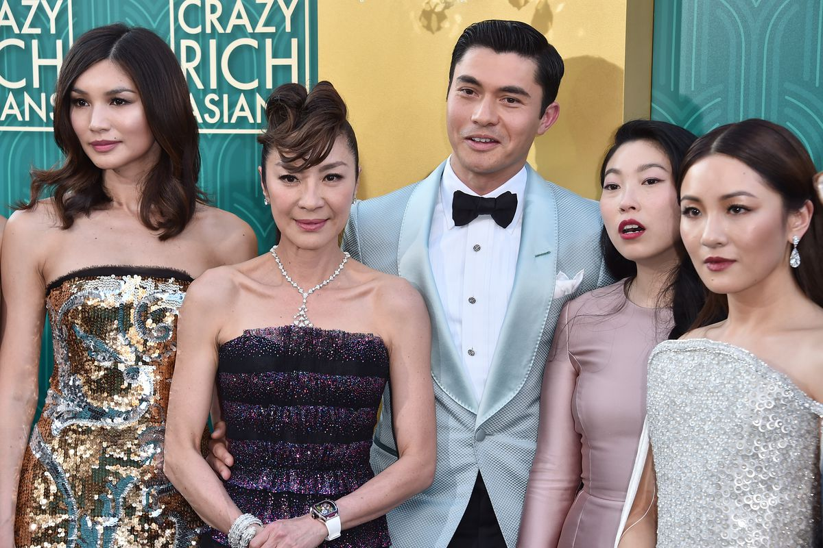 The cast of Crazy Rich Asians at the premiere on August 7, 2018. Alberto E.  Rodriguez/Getty Images ...
