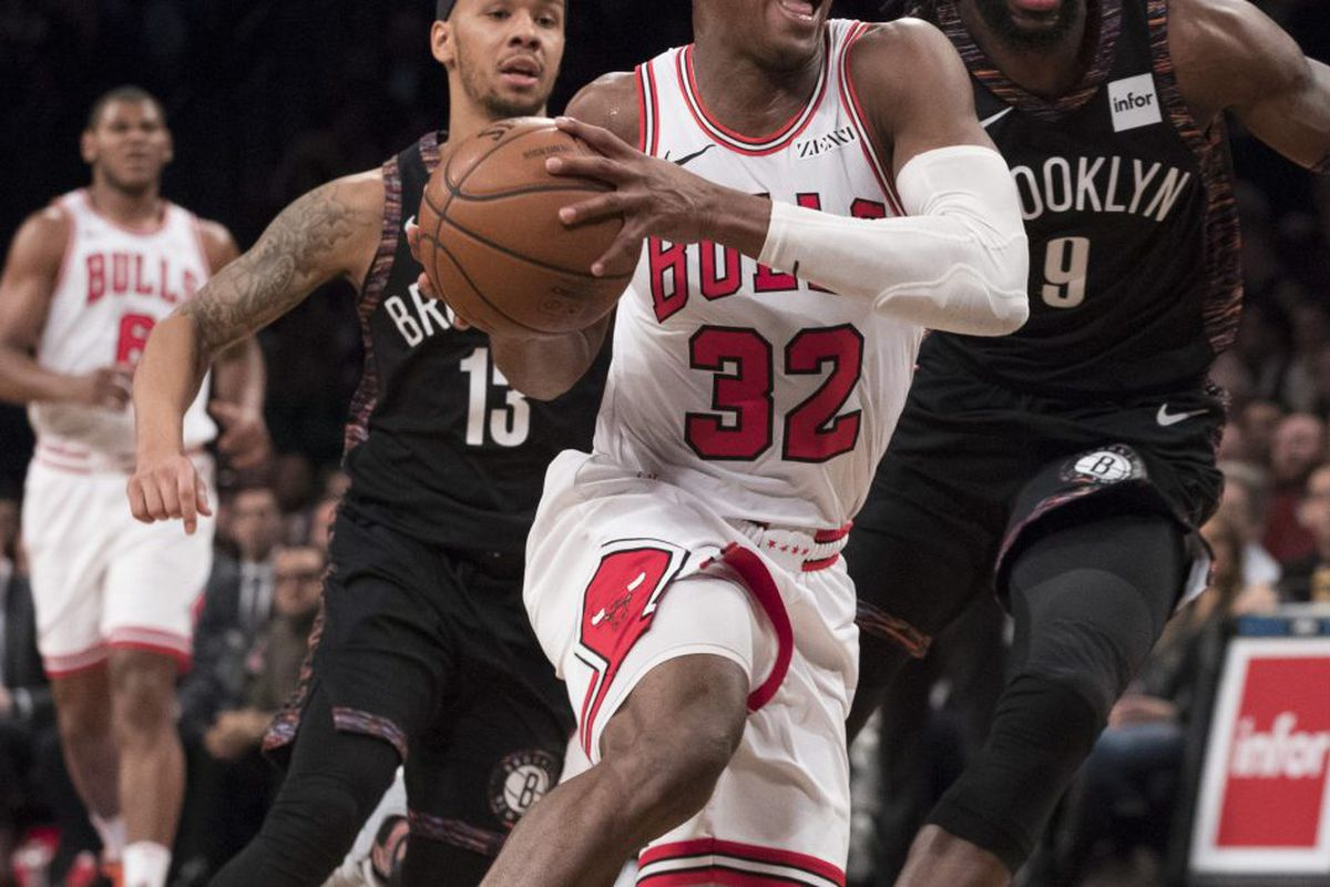 78fc3163b454 Bulls guard Kris Dunn (32) missed Monday night s game against the Milwaukee  Bucks because of a migraine.