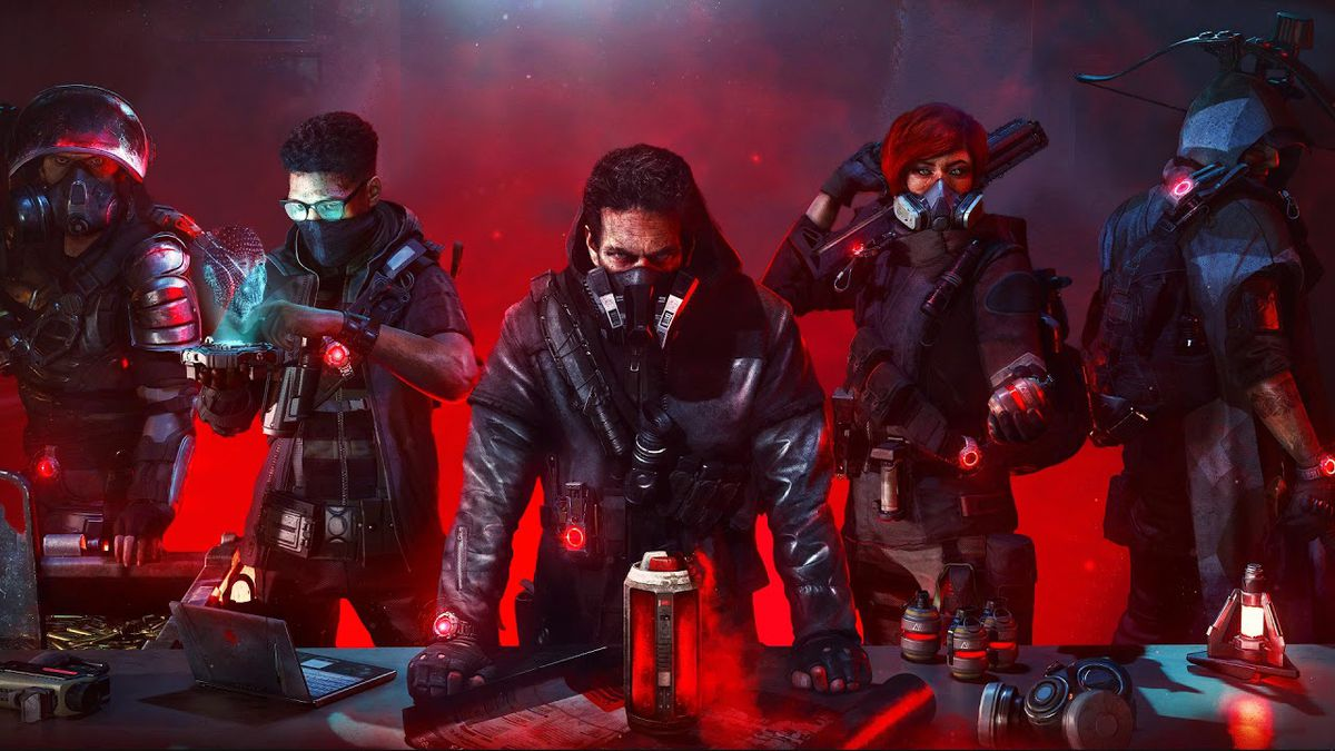 promotional image showing the four menacing-looking bad guys of Tom Clancy's The Division 2: Warlords of New York