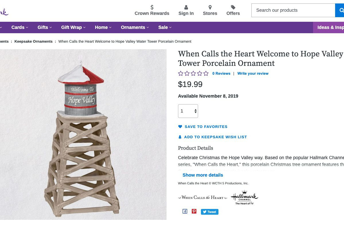 When Calls The Heart Christmas 2019.Hallmark Adds New When Calls The Heart Christmas Ornament