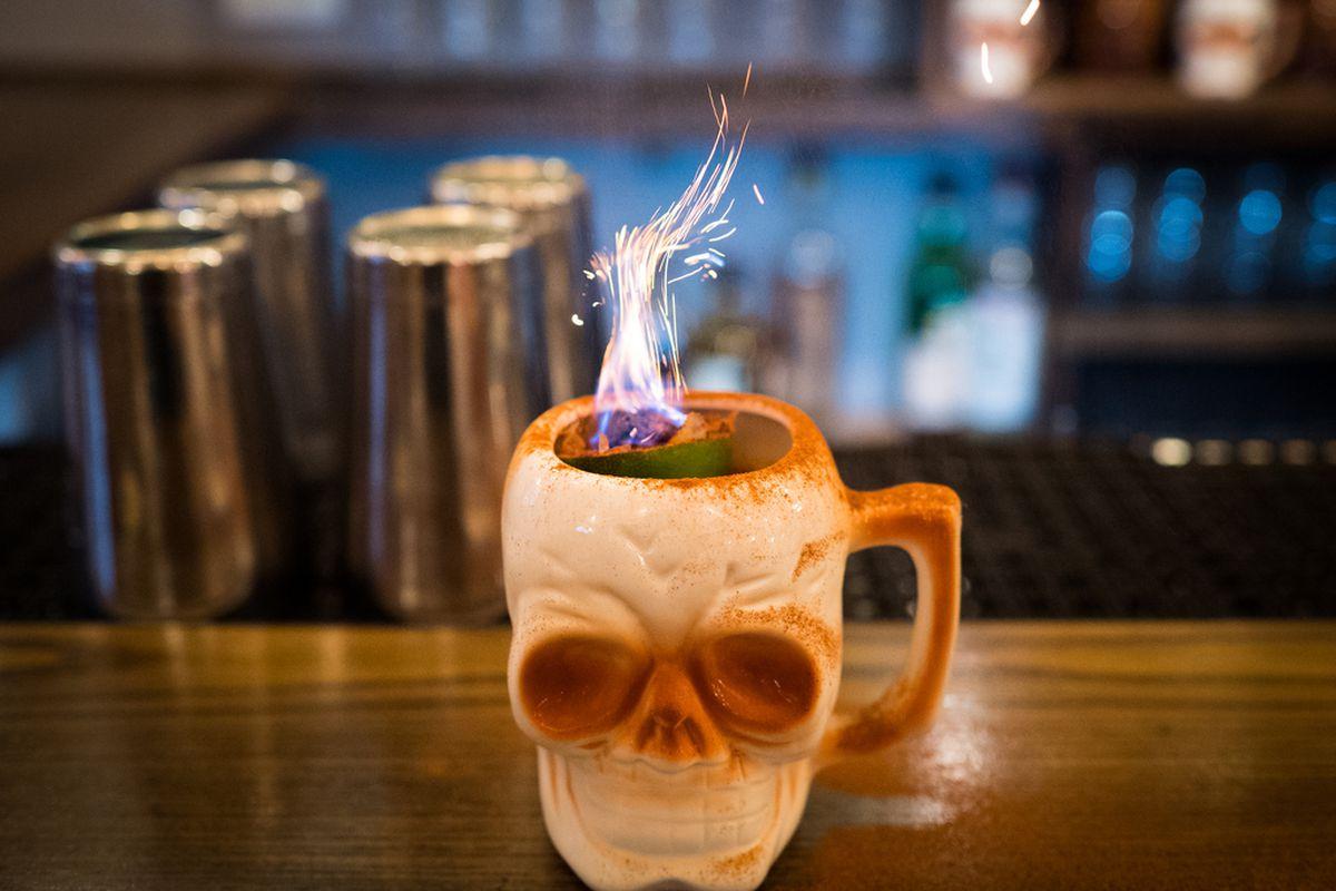 A cocktail at Leyanda in NYC.