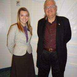 Sister Jenna Davis and Richard Marcus while he was investigating the LDS Church.
