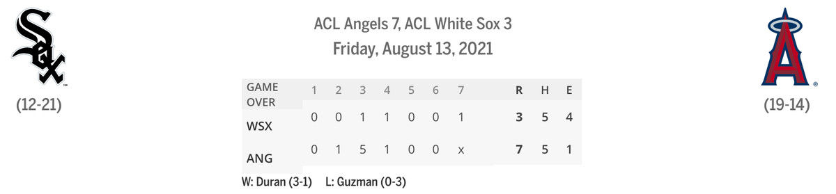 ACL Sox/Angels linescore game two