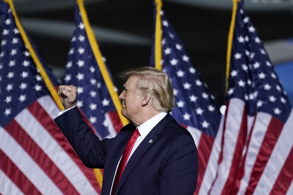 President Trump Campaigns For Re-Election In Virginia