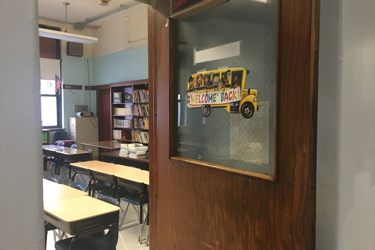 A classroom at Josephine Locke, where NWEA test results were announced Wednesday