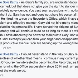 Julie Dole replies to Kathy Chamberlain's comment on her post.