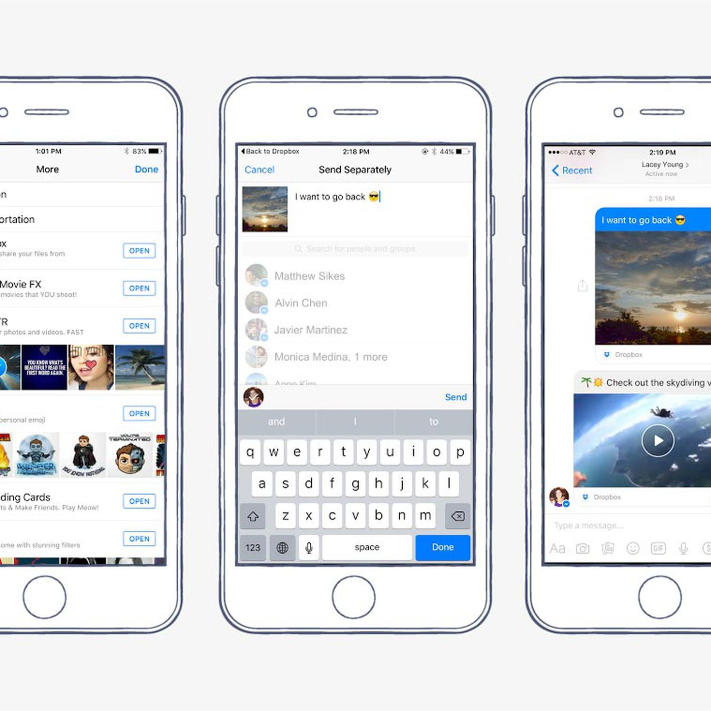 Facebook Messenger can now send and preview Dropbox files - The Verge