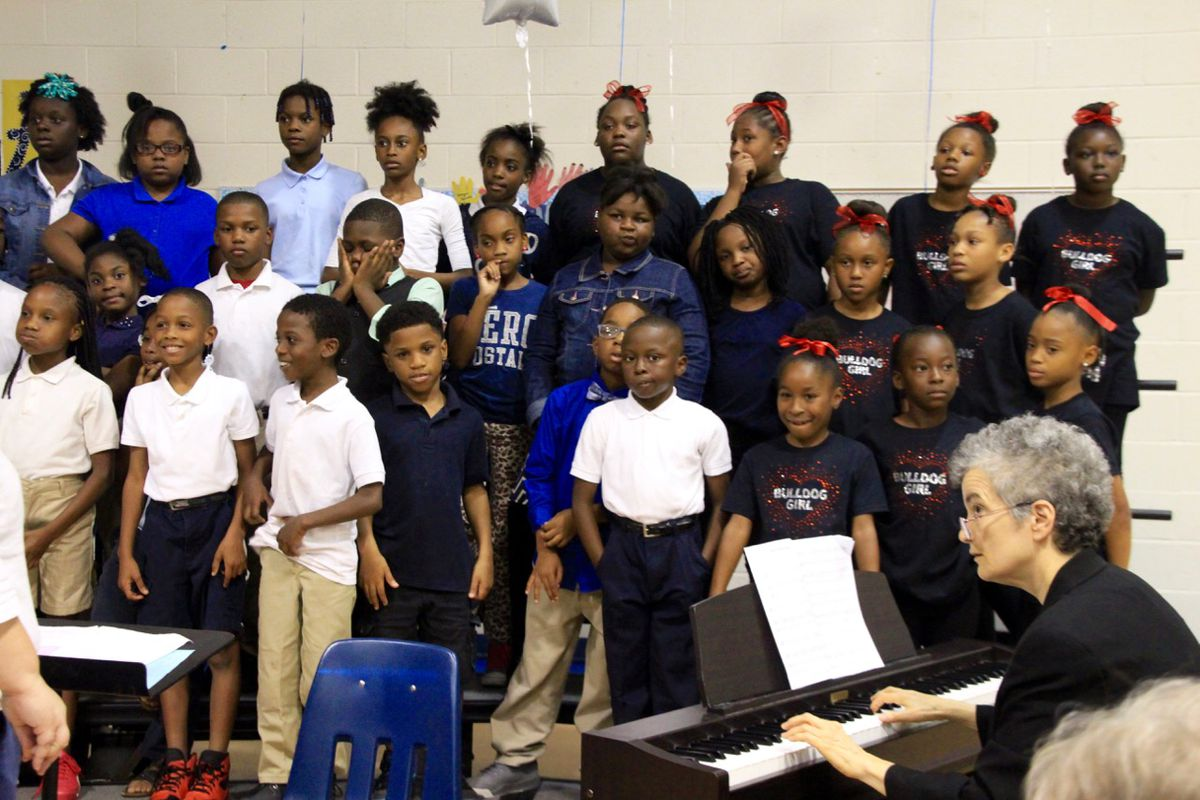 Bruce Elementary choir students perform in honor of the 55th anniversary of the Memphis 13.