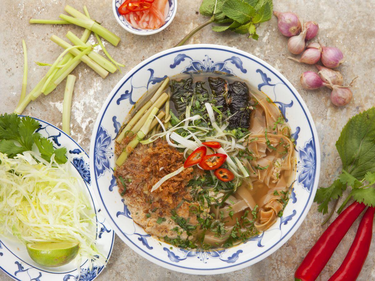 Vietnamese bun cha at BunBunBun on Kingsland Road, one of London's best Vietnamese restaurants