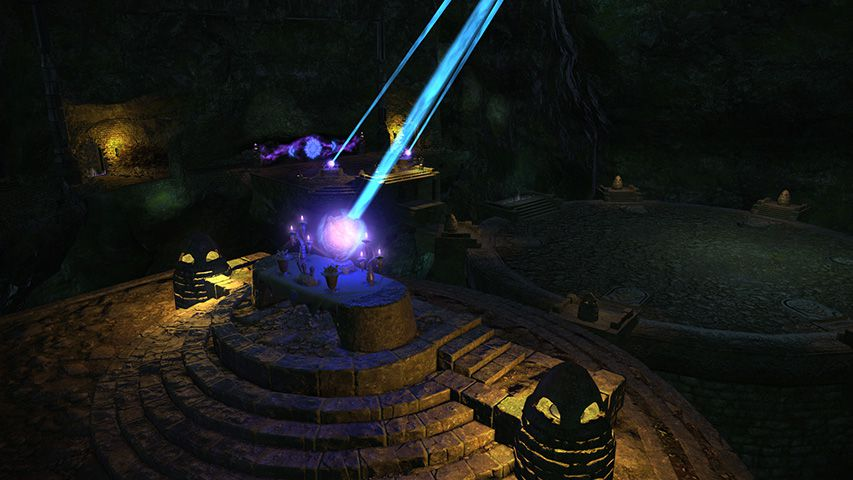 A dungeon from Final Fantasy 14