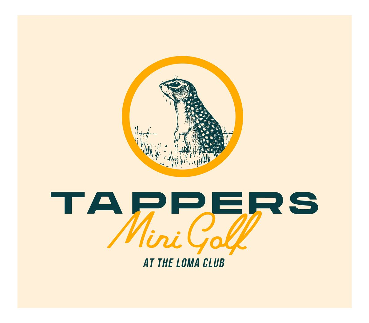 Gopher logo for Tappers Mini Golf & Cocktails at Liberty Station