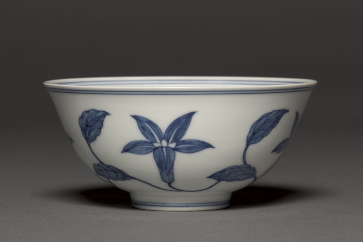 Bowl with Lily Scrolls