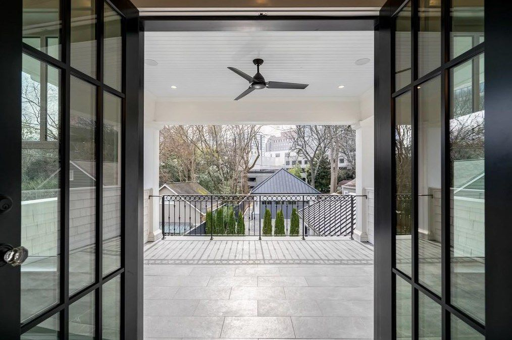 French doors leading out to a balcony.