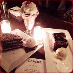 """<strong>9:52pm</strong>: <a href=""""http://www.co-oprestaurant.com/"""">Co-Op</a> desserts are irresistible, so we ordered one of each!"""