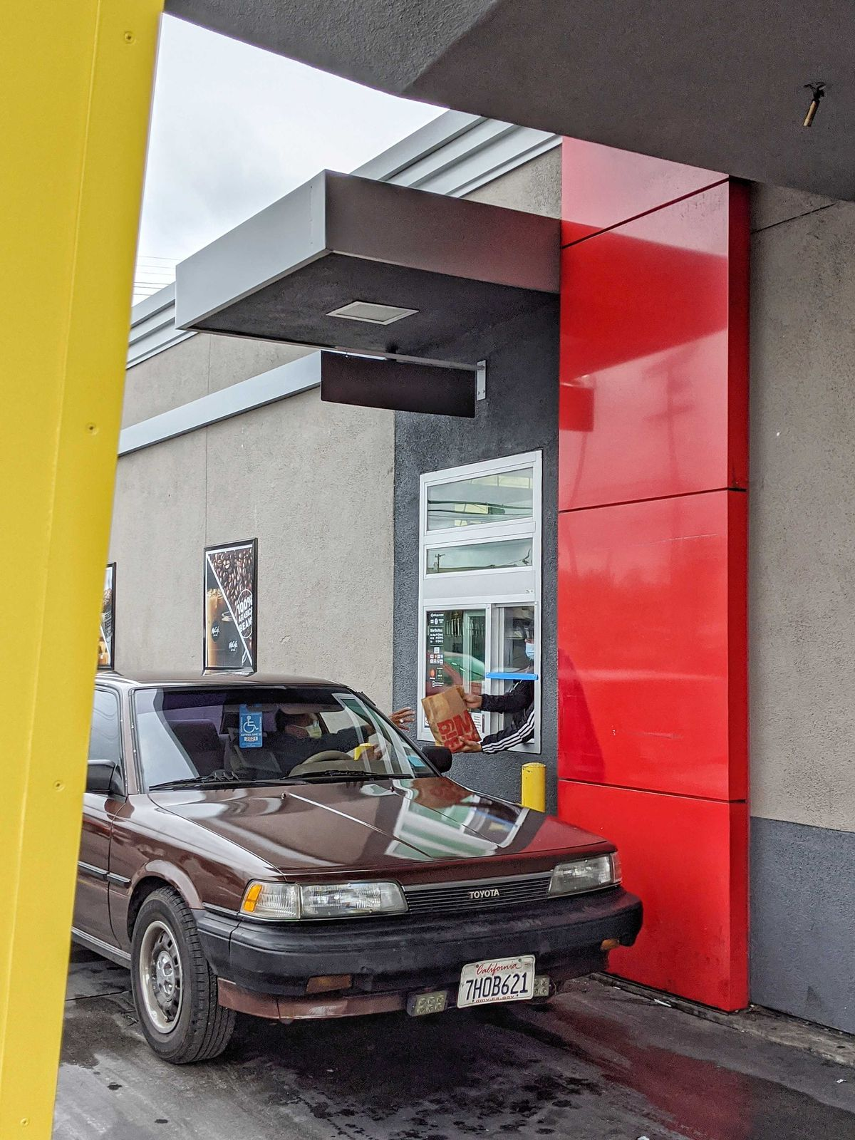 Drive-thru still in operation at the South LA McDonald's on April 6, 2020