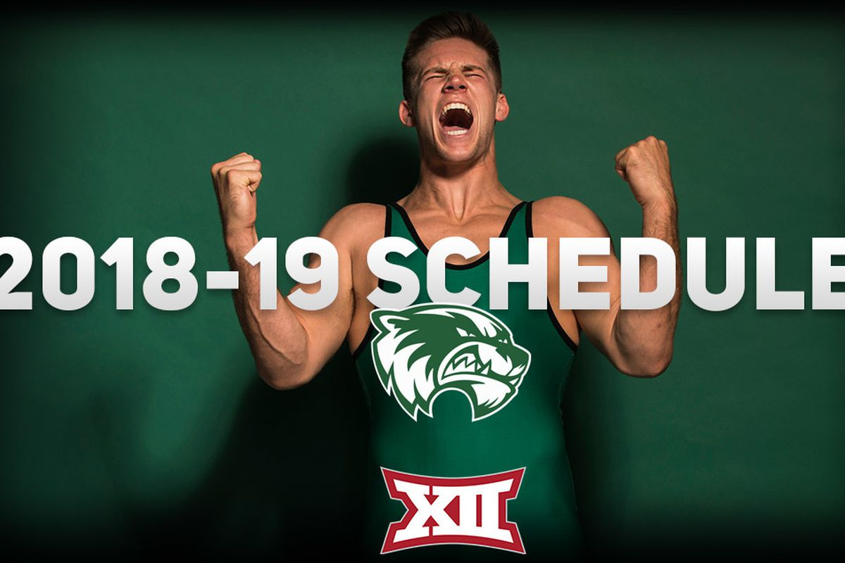 Utah Valley junior 197-pounder Tanner Orndorff yells in excitement. He is one of UVU's four returning NCAA qualifiers back for the Wolverines in 2018-19.
