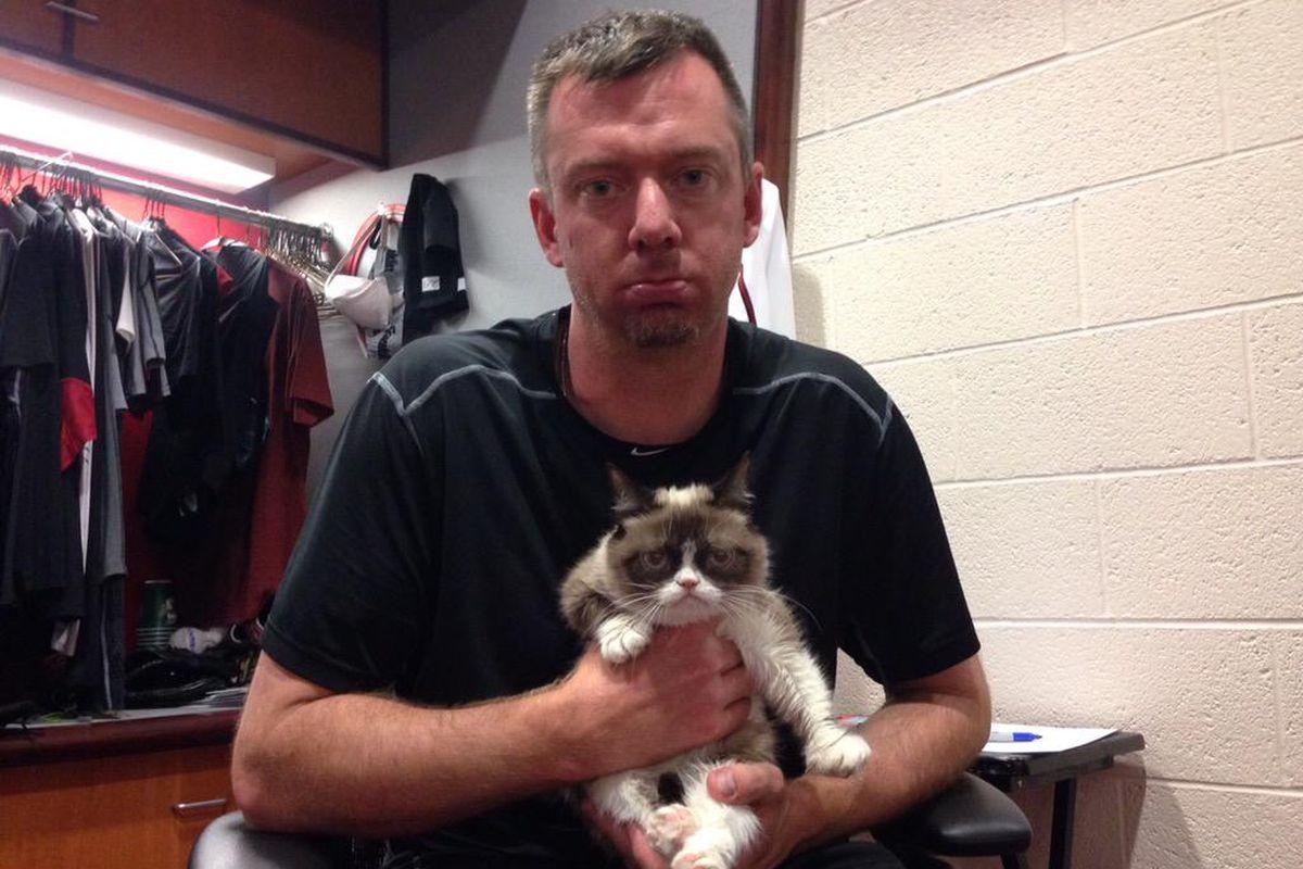 #Dbacks win and @BradZiegler closes out the win on #GrumpyMonday. Let's celebrate.