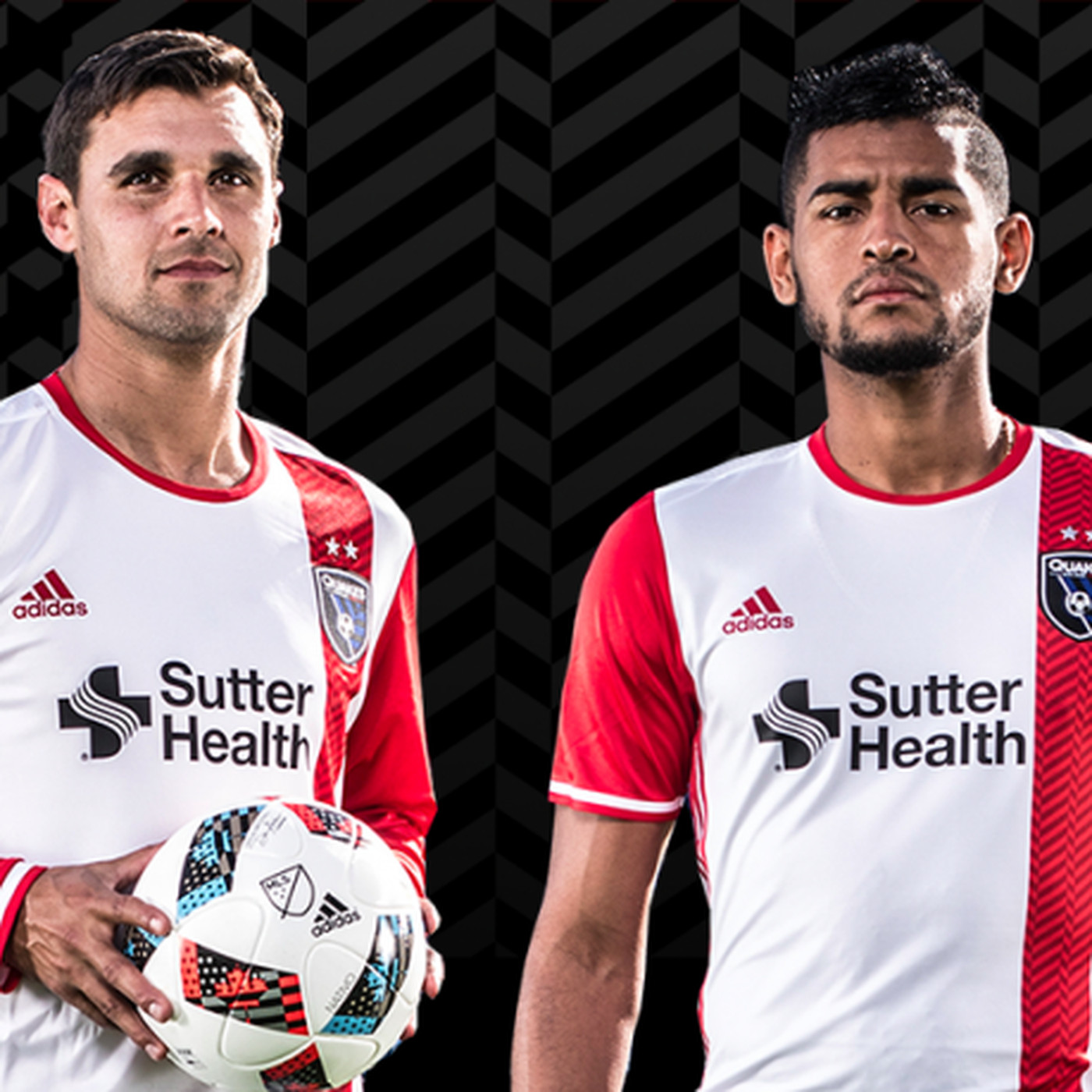 26becad5f49 San Jose Earthquakes 2016 away jersey a mix of white and red ...