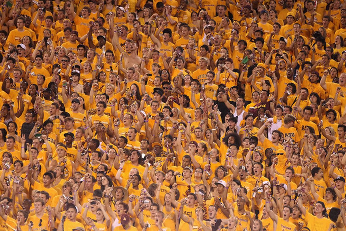 There's nothing like the student section at Sun Devil Stadium. (Photo by Christian Petersen/Getty Images)