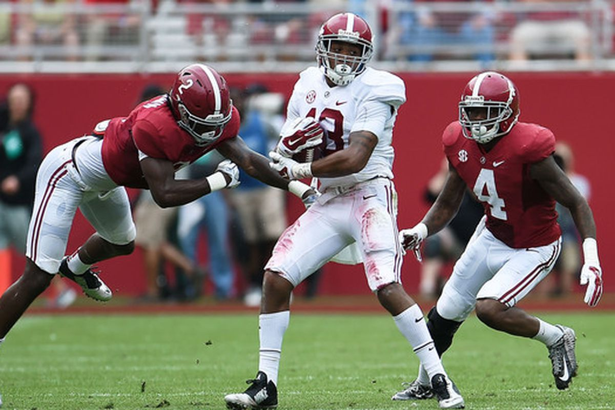 Ball pursuit, forcing turnovers. It's a different focus for the '15 Tide secondary.
