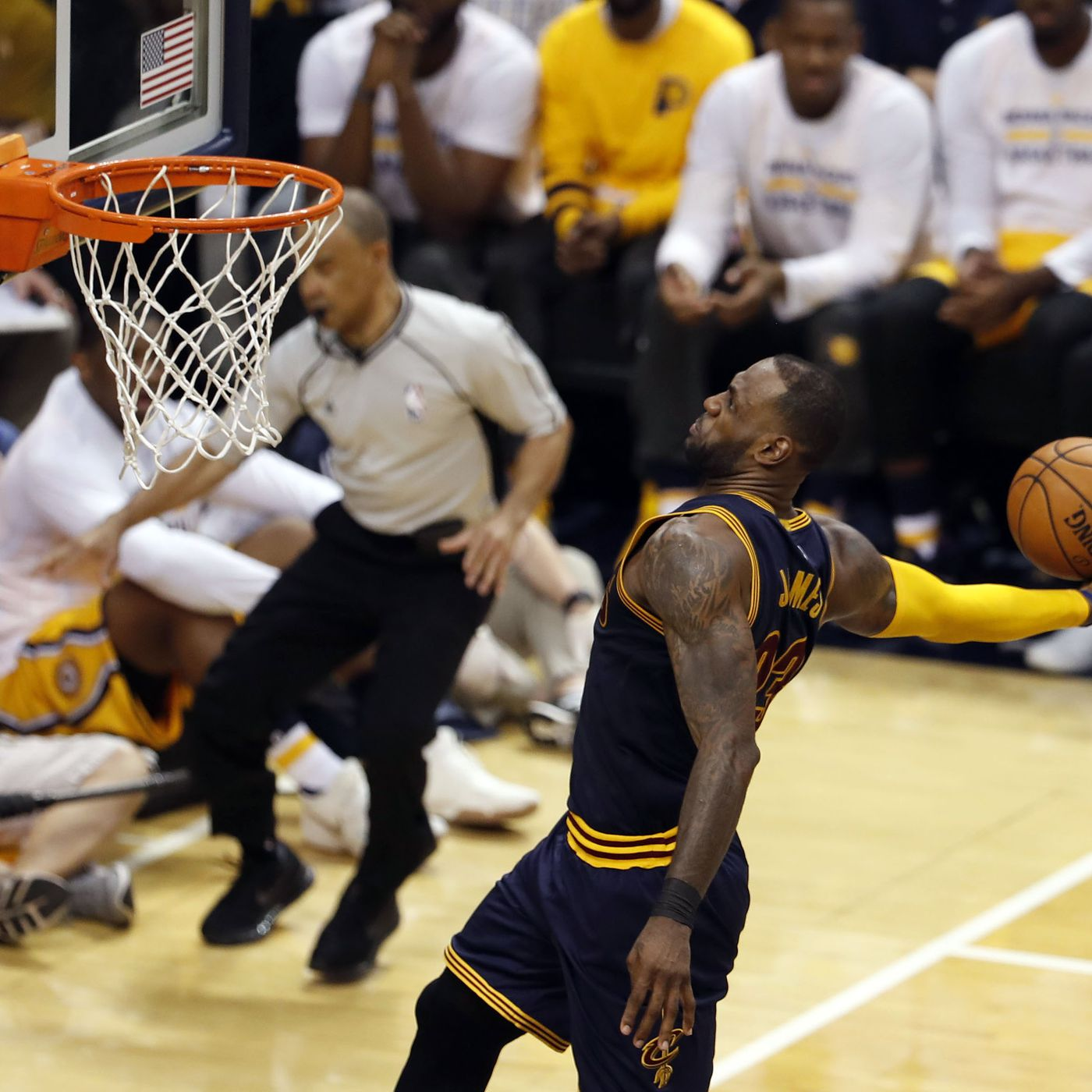 2fe20a84035d Final Score  LeBron James carries Cavs to 119-114 Game 3 win vs. Pacers -  Fear The Sword