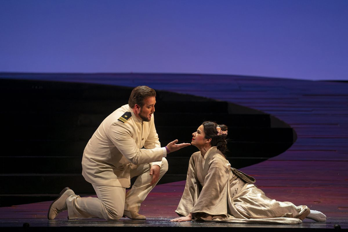 """Brian Jagde and Ana María Martínez star in the Lyric Opera production of """"Madama Butterfly."""""""